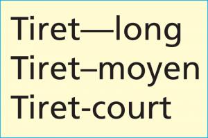 Tirets typographiques